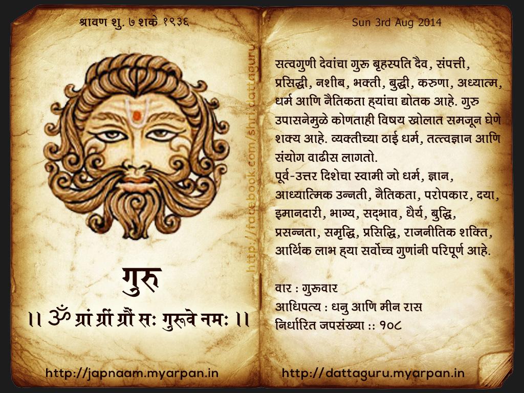 नवग्रह मंत्र - गुरु (Navagraha Mantra- Jupiter)